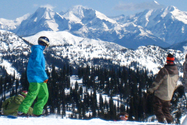Visitors at Whitefish Mountain Resort get views of rugged Glacier National Park. - ©Becky Lomax