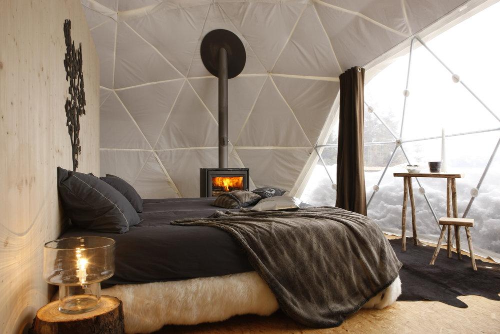 Whitepod interior, Les Cerniers - ©Whitepod