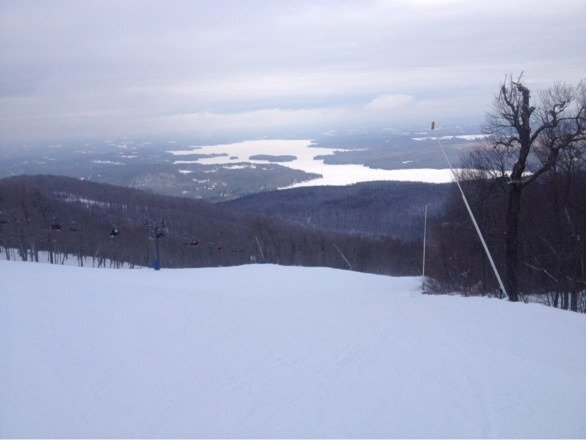 Was as good as could be expected today. Nice thing about sunapee is there's nothing too steep to get skied off too bad. Pretty much just coasters across the whole mountain. Didn't make any snow today either, probably anticipating rain, and not wasting the time and energy. Hopefully the mountains can recover from this rain tomorrow within a week or so.