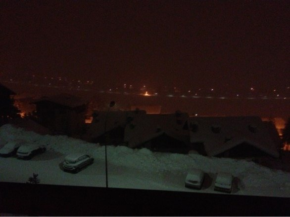 Snowing all night!!!