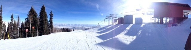 Super fun today! Still fresh snow hidden!