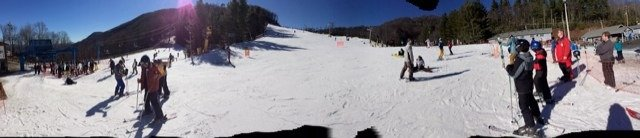 Great weather last Sunday!  Honestly, for the warmer weather, this place was really great to ski, will go back soon!