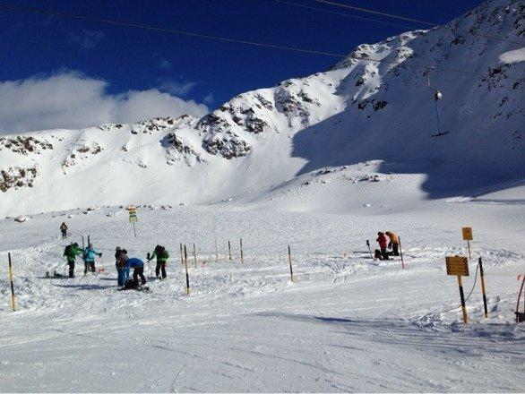 Davos Rinehorn earlier today. Amazing off piste