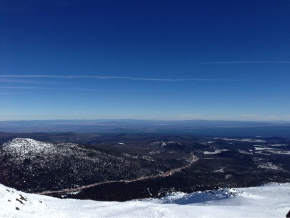 Sunny and warm. The groomed sections softened up but off that was crusty