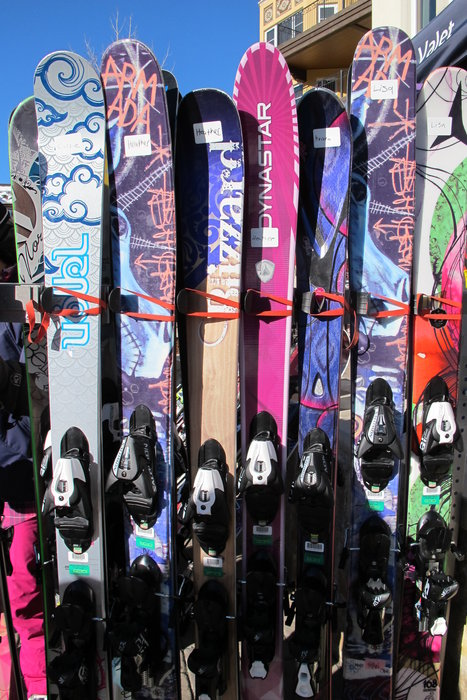First day fleet of women's skis.  - ©Heather B. Fried