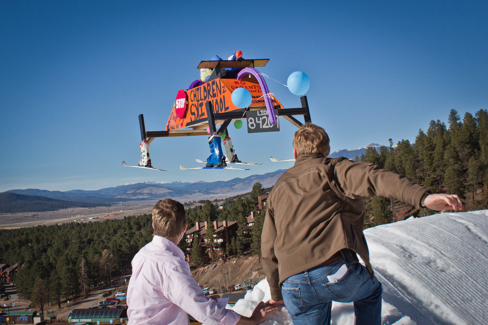 Ready to launch! The Dummy (Gelande) Launch will soar into Angel Fire in conjunction with the annual Shovel Race Championship. - © Courtesy of Angel Fire Resort