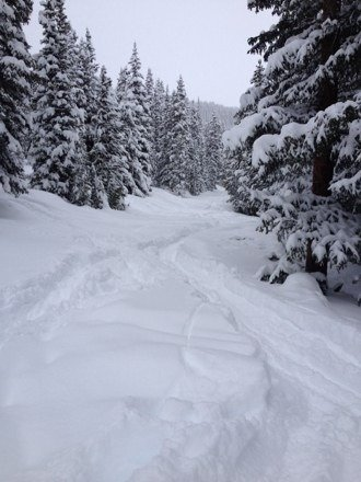 Powder everywhere and still snowing yesterday! Fantastic day at Key!