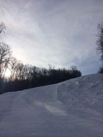 Great conditions today on the mountain.  No lift lines at all which is crazy for this time of year.