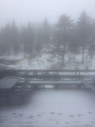 Snowing at stagecoach, good powder runs up top Olympic, majority of runs closed, still having a great time