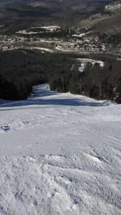 conditions were great just like here on ripsaw..little icy later in the day especially on north peak but the rest of the mountain was solid the rest of the day. only thing that keeps me from five stars is how many jerks there were at the mountain. overall good day of skiing though