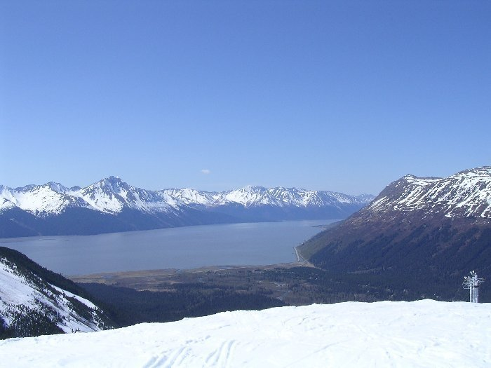 View from the top of Alyeska Resort, Alaska