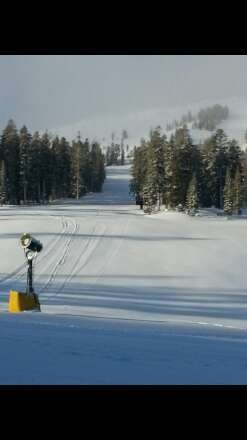 """Snowed all night... runs look good 28 degrees with 6"""" of fresh snow."""