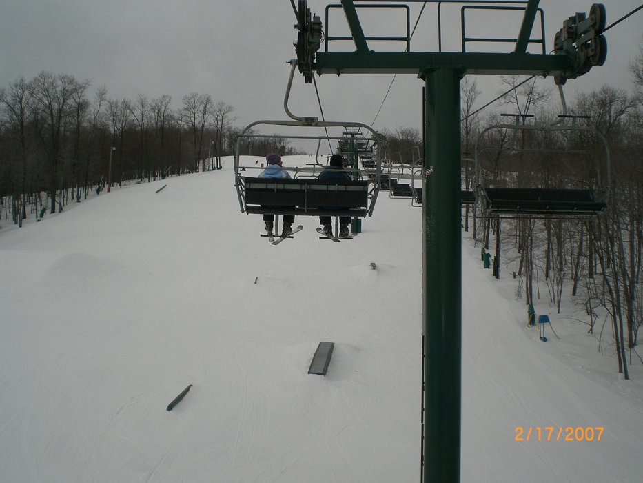A view of Whitetail Resort, Pennsylvania from a chair lift