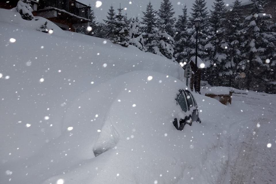 40cm of snow in Montgenevre Jan. 17, 2014