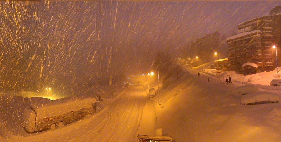 50cm of snow in Isola 2000, Jan. 17, 2014