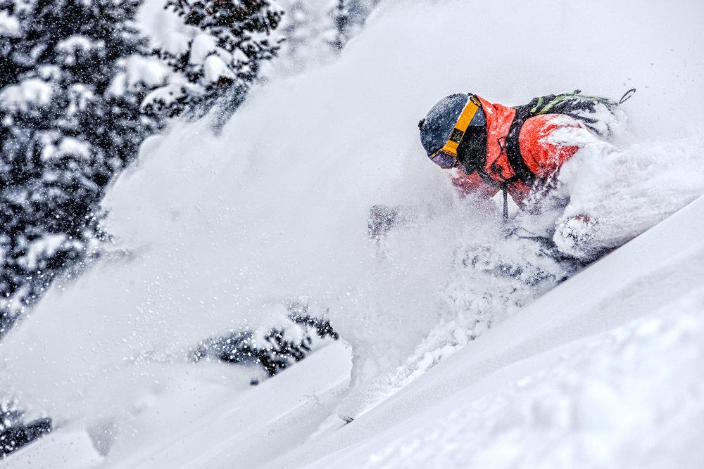 Adam Moszynski gets deep at Highlands. - ©Liam Doran