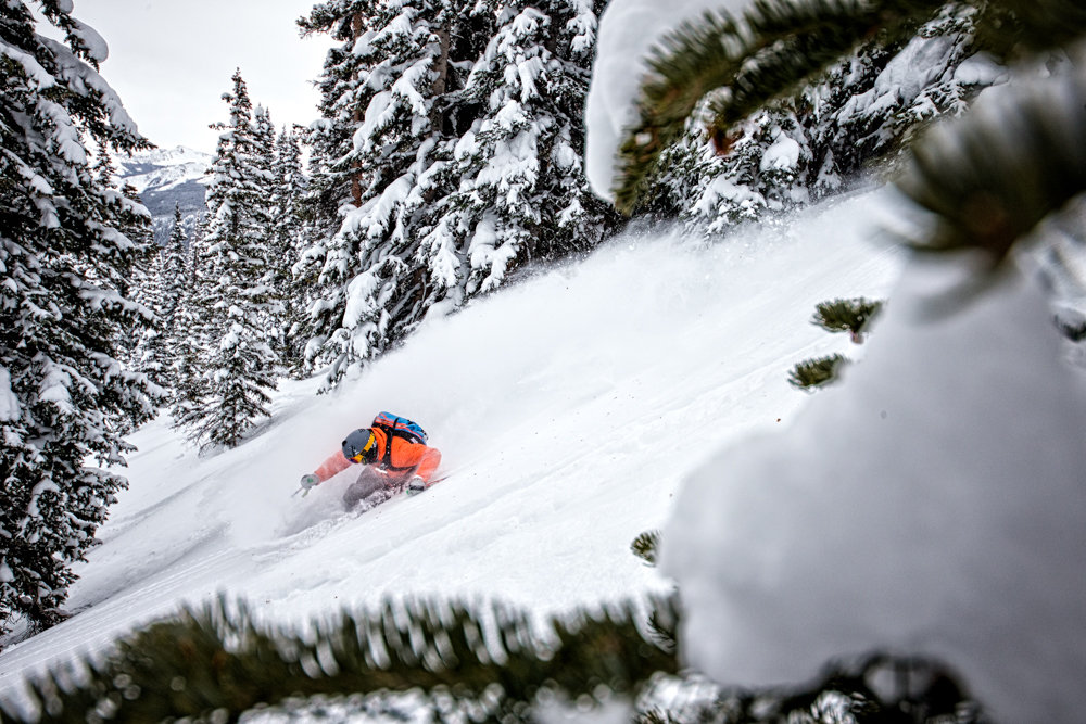 Adam Moszynski gets back to work, tearing up Aspen Mountain. - ©Liam Doran