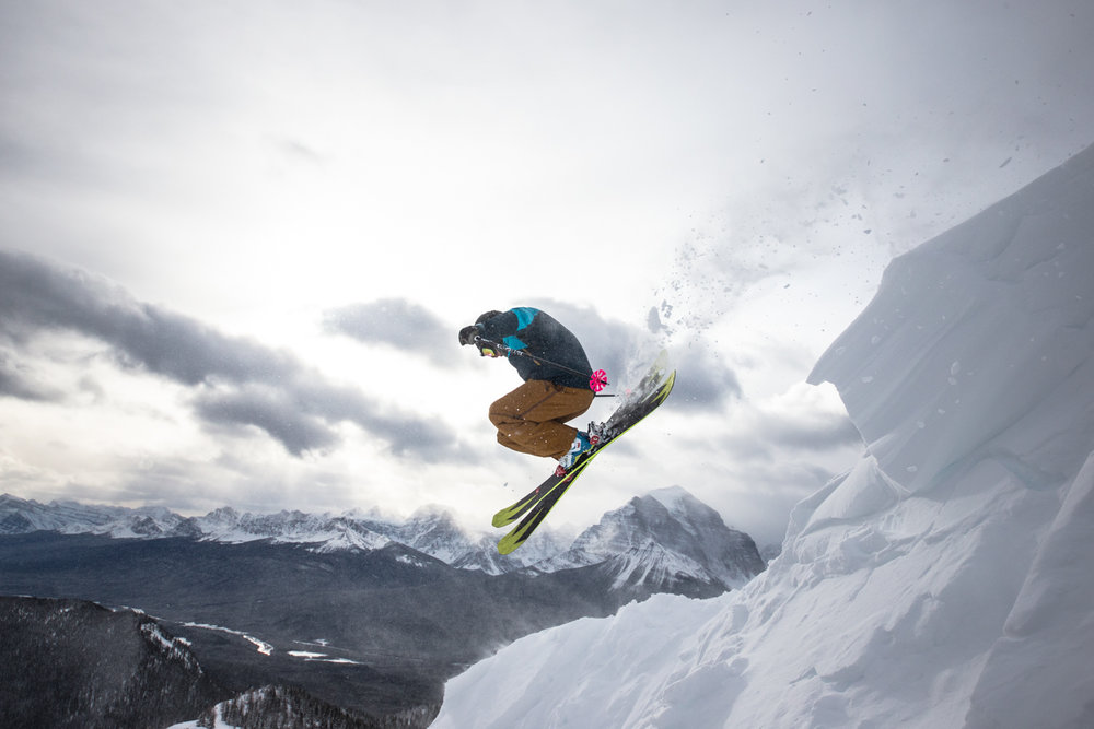 Airing it out over Temple Mountain at Lake Louise. - © Liam Doran