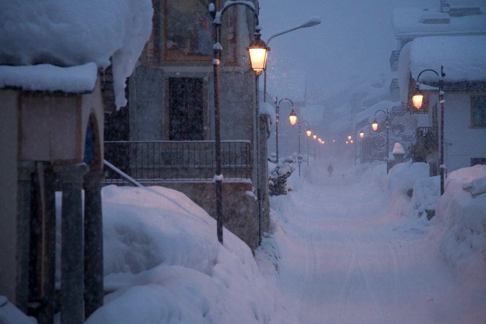 Alagna Valsesia, Nevicata 30 Gen 2014