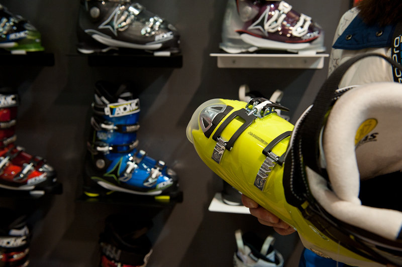 The Atomic Hawx 2.0 is a medium-fit ski boot with a heat moldable liner and shell. - ©Ashleigh Miller Photography