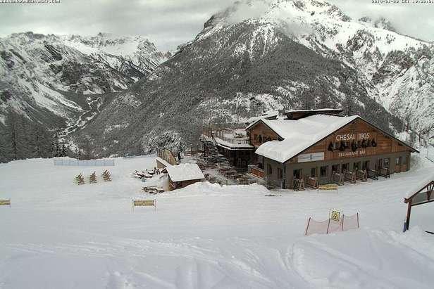 Bardonecchia - Durante e dopo l'ultima nevicata del weekend | 18-19 Gen 2014
