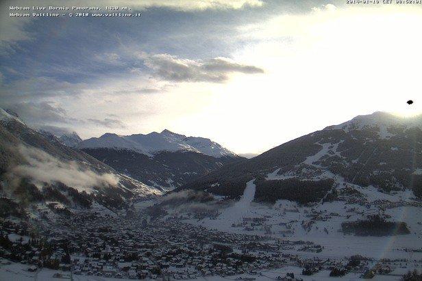 Bormio - Durante e dopo l'ultima nevicata del weekend | 18-19 Gen 2014