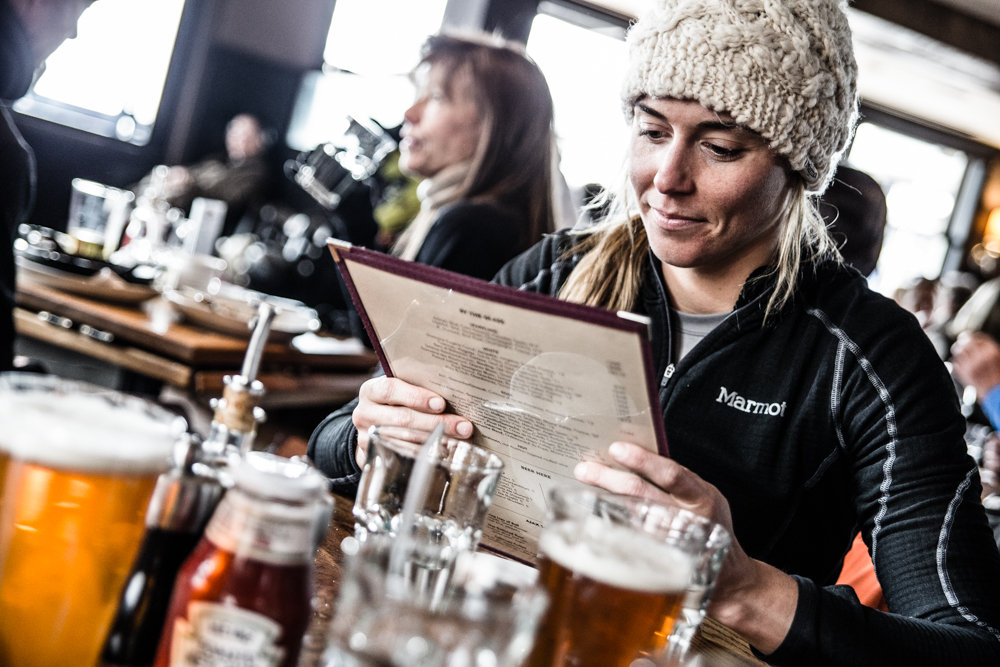 Choosing the perfect reward after a great day on the mountain. - © Liam Doran