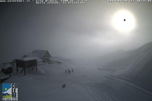 Colere - Durante e dopo l'ultima nevicata del weekend | 18-19 Gen 2014