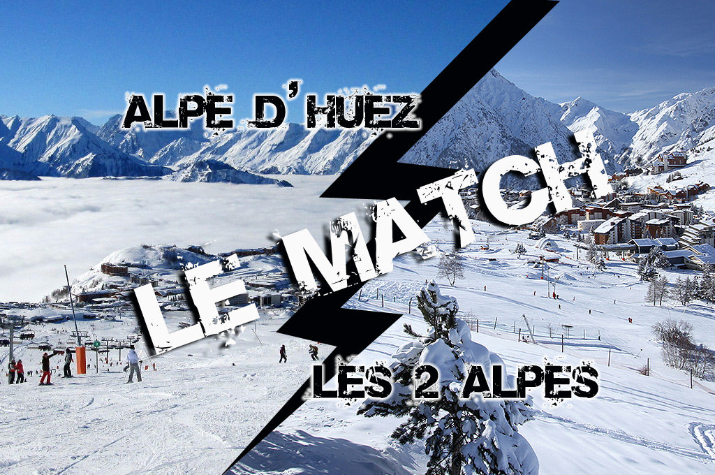 Match comparatif entre Les 2 Alpes et l'Alpe d'Huez, les 2 principales stations de ski du massif de l'Oisans.