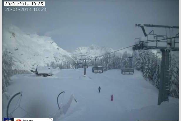 Comprensorio Ski Civetta  - Durante e dopo l'ultima nevicata del weekend | 18-19 Gen 2014