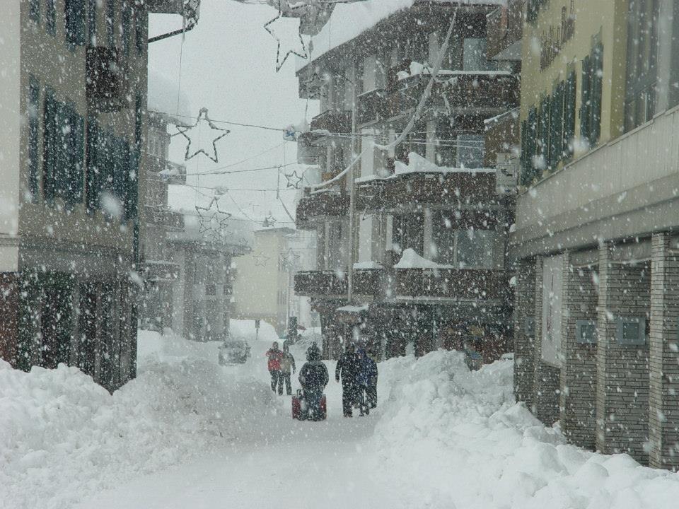 Cortina ziet er sprookjesachtig uit in de sneeuw op 31 januari 2014
