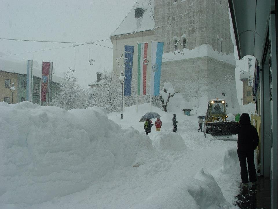 Hevige sneeuwval in Cortina op 31 januari 2014