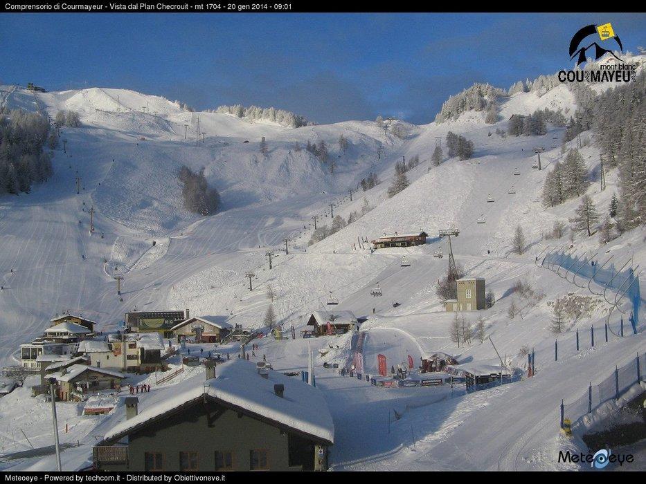 Courmayeur - Durante e dopo l'ultima nevicata del weekend | 18-19-20 Gen 2014
