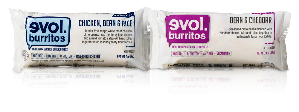 Evol mini burritos: Great snack, stand-in handwarmer. - © EVOL Foods