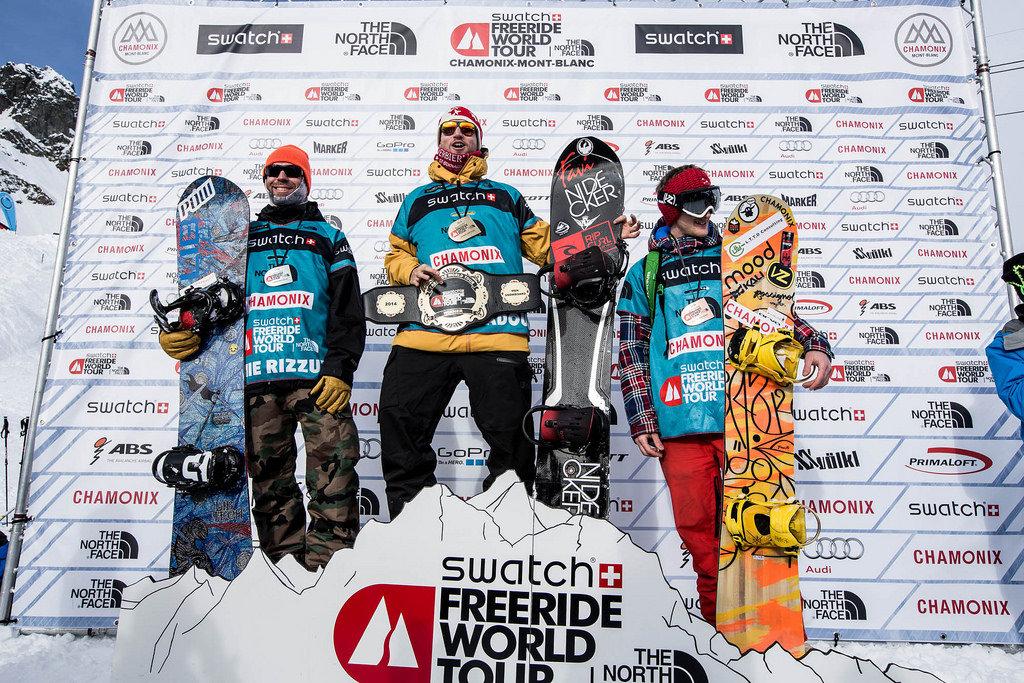 FWT 2014 : Tappa diChamonix - Podio maschile snowboarder - © www.freerideworldtour.com