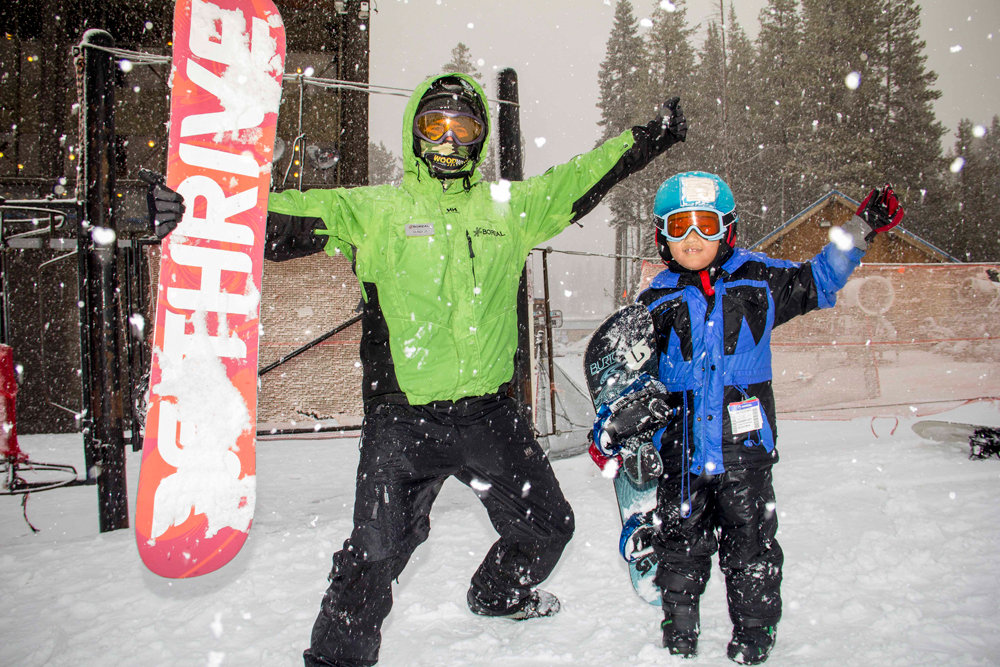 Guests taking advantage of the new snow up at Boreal Mountain this past weekend.  - ©Boreal Resort
