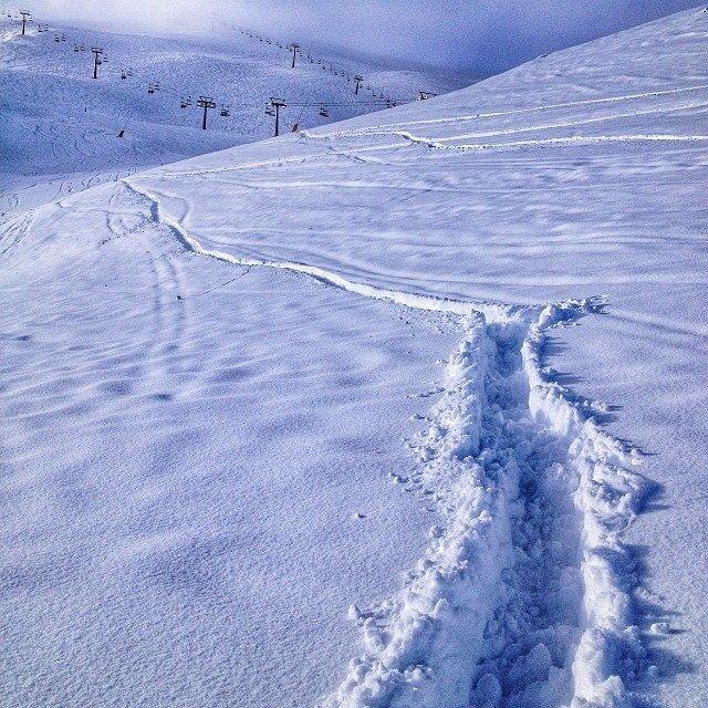 La Thuile - Durante e dopo l'ultima nevicata del weekend | 18-19 Gen 2014