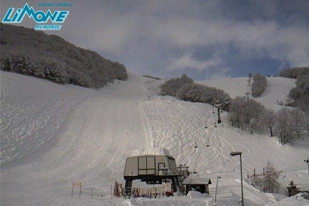 Limone P.te - Durante e dopo l'ultima nevicata del weekend | 18-19 Gen 2014
