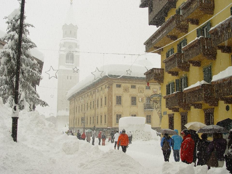 Masses of snow in Cortina Jan. 31, 2014 - ©Cortina Tourism