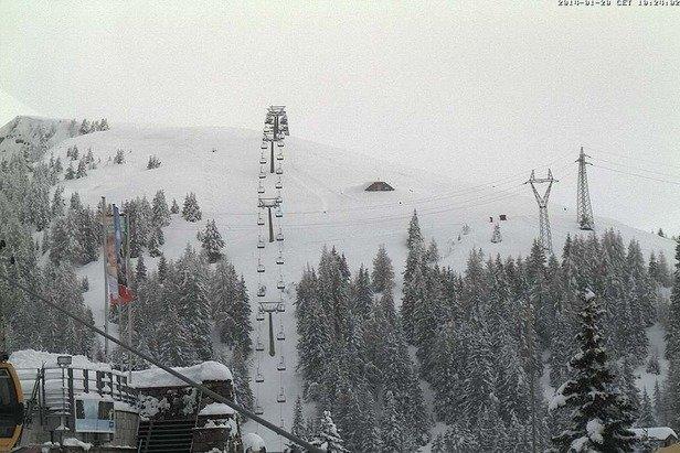 Merano - Durante e dopo l'ultima nevicata del weekend | 18-19 Gen 2014