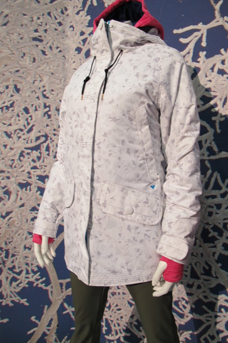 This new Obermeyer women's jacket is part of its Freeride Collection and features a unique floral camo print. - ©Heather B. Fried