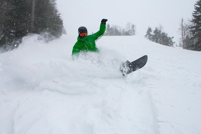Pax dropped nearly 2 feet of fresh on Snowshoe Resort. - © Snowshoe Resort