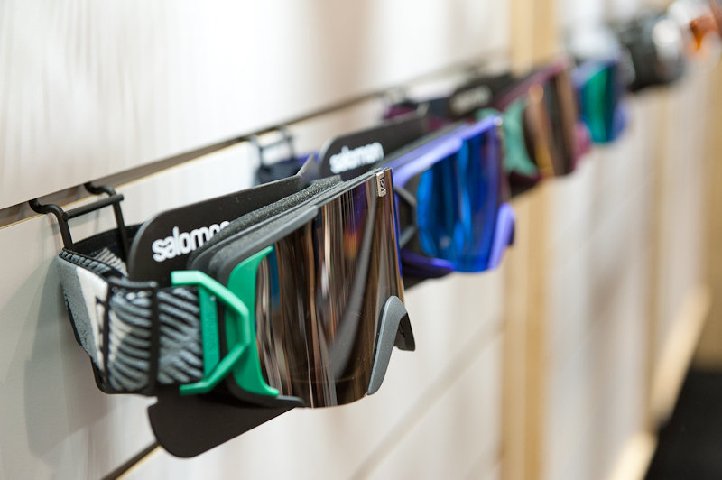 Salomon's new X-TEND goggle line.  - ©Ashleigh Miller Photography