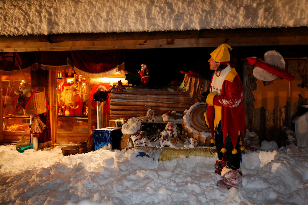 Santa cabin in Les Gets, France - © Les Gets Tourism