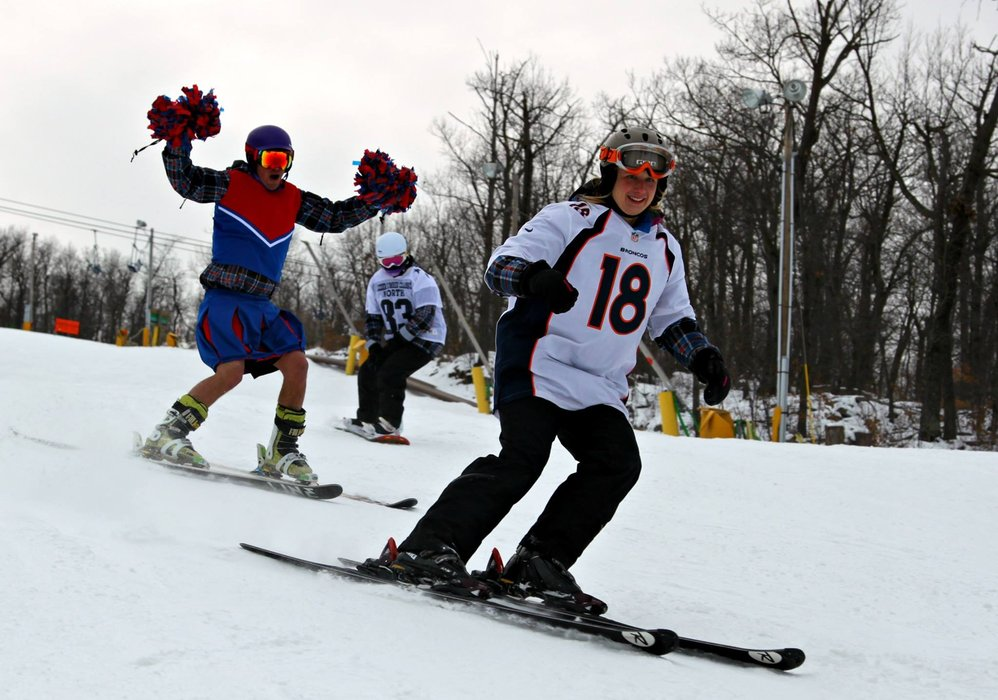 Show your team spirit and ski free on Superbowl Sunday at Mountain Creek. - ©Mountain Creek