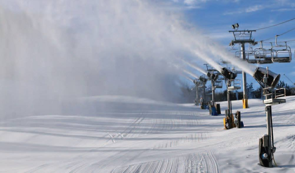 Snowmaking at Cataloochee. - ©Catalooche Ski Area