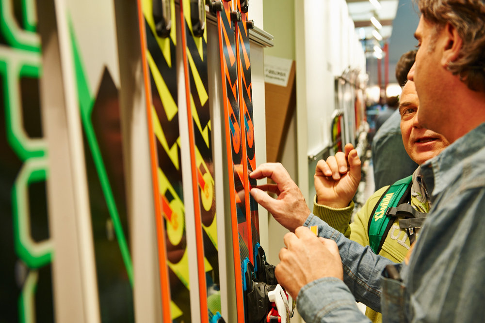 Völkl skis 2014/15 with tapered shape called the 5-point geometry  - ©Messe München GmbH