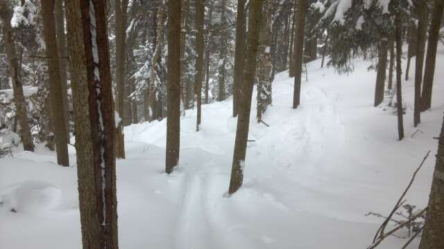 if you know where to go, you can find 2 feet of powder, no joke! i found a few spots with over 2 feet, just got to look around