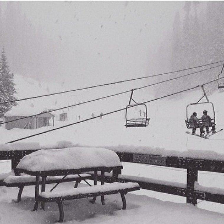 crazy powder day...and, still snowing when I left...c ya tmrw