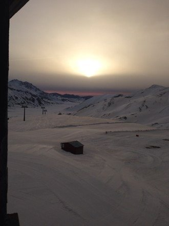 La mattina è un po' ghiacciata, ma dopo un'oretta diventa buona.